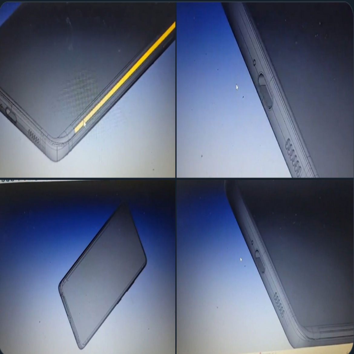 Very thin bezels, but do they still have the pinhole selfie cam? Through-screen cameras…