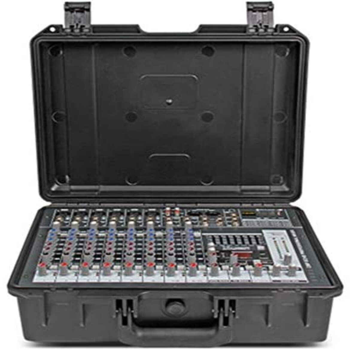 Tune Mixer Expert Suitcase Constructed-in Outdoors Console Transportable Powered Mixer With Amplifier 10 Channels & 300W x 2 Amplifier for warmth and musical sound ( Shade : C1 , Size : 380x285x145MM )