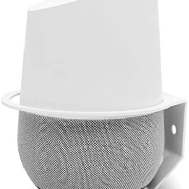 Google Dwelling Wall Mount, ALLICAVER Sturdy Metal Made Mount Stand Holder for Google Dwelling.(White)