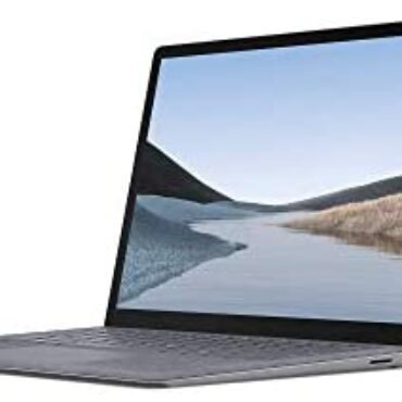 """Microsoft Surface Computer 3 Extremely-Thin 13.5"""" Touchscreen Computer (Platinum) – Intel tenth Gen Quad Core i5, 8GB RAM, 128GB SSD, Windows 10 Dwelling, 2019 Edition"""