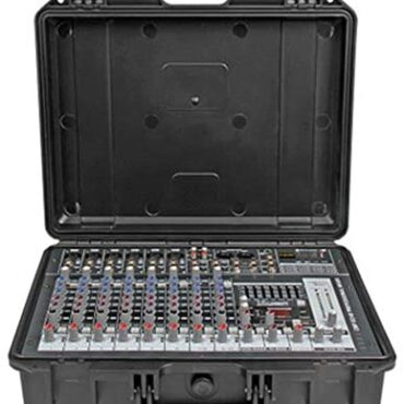 Joycaling Mixing Console Moveable Powered Mixer Expert Suitcase Integrated Exterior Console With Amplifier 10 Channels 300W 2 Amplifier Home Studio Recording (Color : C1, Dimension : 380x285x145MM)