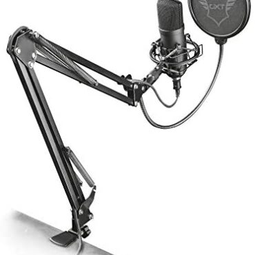 Have faith Gaming GXT 252+ Emita Plus USB Gaming Microphone for PC, PS4, PS5 and Pc pc, Studio Condenser Microphone with Adjustable Arm for Podcast, Recording, Streaming – Shadowy