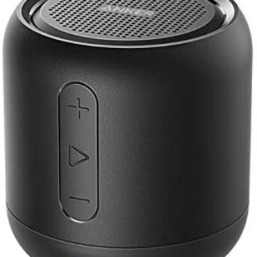 Anker SoundCore mini, Big-Transportable Bluetooth Speaker with 15-Hour Playtime, 66-Foot Bluetooth Vary, Enhanced Bass, Noise-Cancelling Microphone