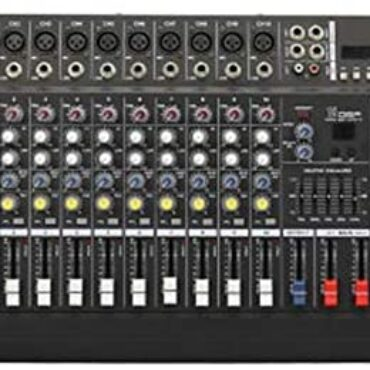 Yamyannie-Equipment 10-Channels Bluetooth Energy Mixer Band Profrssional Amplifier Originate With Voltage Conversion 16DSP Digital Visual show unit Red meat up USB/SD Card 250W Residence Use Mixer Sound Console