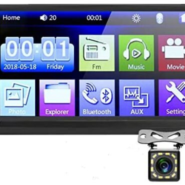 Car Stereo Double Din,7 crawl HD Touch Display Car MP5 Participant USB/SD/AUX Enter,Car Audio Bluetooth,FM Radio,Mirror Link, Make stronger Backup Digicam and Steering Wheel Adjust