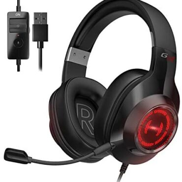 Edifier G2 II Gaming Headset for PC, PS4, USB Wired Gaming Headphones with 7.1 Encompass Sound, Noise Canceling Microphone and RGB Light, 50mm driver, Properly matched with Mac, Desktop, Pc, Shadowy
