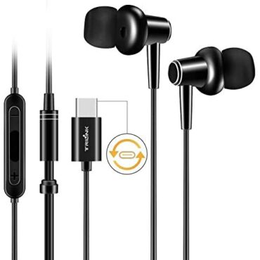USB Kind C Earbud Headphones for Huawei Mate 30/20/10/Pro/RS/X, P30/P20/Pro, Xiaomi Redmi Be aware 7/Be aware 6 Pro/7/6A, Mi A3/A2/A1/8 Lite/8/8 SE/9T/9/9/Pro/9 SE/CC9/K20 Pro/Max/Mix – Earphones with Mic