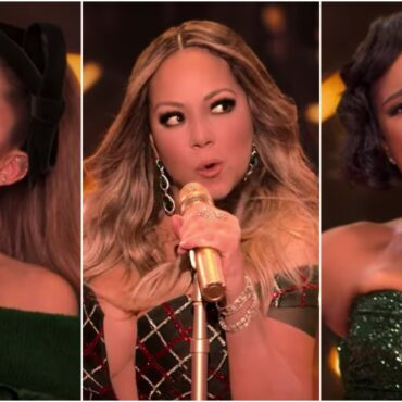 Mariah Carey, Ariana Grande, and Jennifer Hudson Join Forces for New 'Oh Santa' Music Video