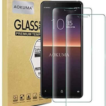 AOKUMA Sony Xperia 10 II Tempered Glass Mask Protector, [2 Pack] Premium Quality Guard Film, Case Kindly, Ecstatic Spherical Edge,Shatterproof, Shockproof, Scratchproof oilproof