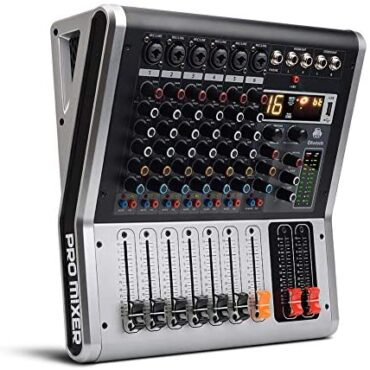 6 Channels Audio Mixer USB DJ Mixing Deskswith Nonetheless And PFL Switch,16 DSP Digital Results