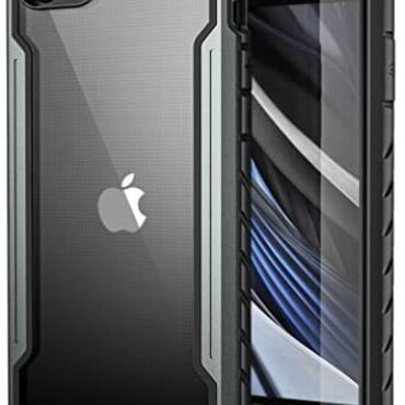 Wepro for iPhone SE 2020 Case, iPhone 8 Case, iPhone 7 Case, Armour Protect – Armed forces Grade Fall Examined, Anodized Aluminum, TPU and Polycarbonate Hybrid Shockproof Case Mask – Home Gray