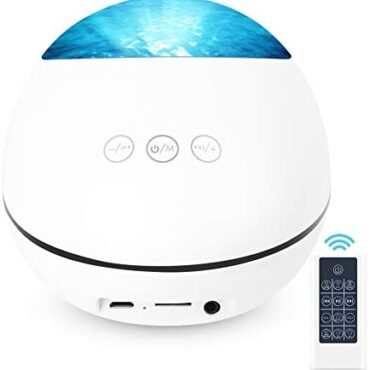 Semlos Lucky Stone Some distance-off Withhold an eye fixed on Projection Lamp 8 Gentle Modes, Night time Gentle with Bluetooth Speaker, Romantic Ocean Wave Projector Gentle with TF Card Slot, Music Participant, Timing Characteristic, USB Powered