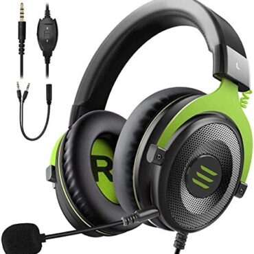 EKSA Gaming Headset PC Headset Surround Sound Headset with Soft Reminiscence Earmuffs for PS4 PS5 Detachable Noise Cancelling Microphone Volume Put watch over for Xbox One S/X PS4 PC Mac Notebook computer Swap