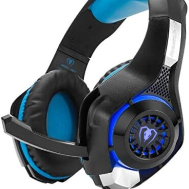 Gaming Headset, Headphone with Mic, Noise Cancelling Gaming Headphone Admire minded with Ps4/ PS4/ Contemporary Xbox One/PC/iOS iPad/Android Phone Free Y Adapter Cable – Sunless Blue