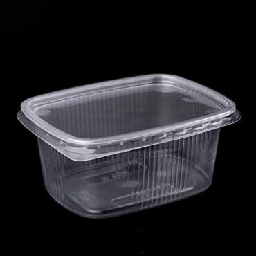 (Pack of 150) 250 ml Salad Containers Takeaway Instant Food Disposable Box Plastic lids Storage