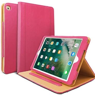 Danycase New iPad 2018/2017 9.7 bound Case 5th/6th Generation Auto Sleep/Wake Quilt Stand Folio Quilt Case for Apple iPad 9.7 bound, Also Match iPad Air 2 / iPad Air(Red)