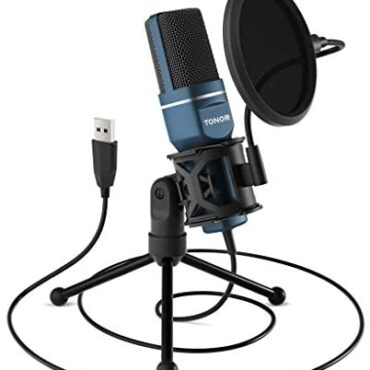 TONOR PC Microphone USB Pc Condenser Gaming Mic Scuttle & Play with Tripod Stand & Pop Filter for Vocal Recording, Podcasting, Streaming for iMac PC Pc Desktop Home windows Pc