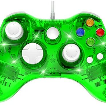 PAWHITS Wired Xbox 360 Controller Twin Vibrator Wired Gamepad Gaming Joypad, Inexperienced
