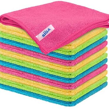 MR.SIGA Microfiber Cleaning Cloth,Pack of 12,Dimension:12.6″ x 12.6″