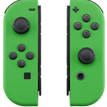 eXtremeRate Mushy Contact Grip Inexperienced Joycon Handheld Controller Housing with Full Scheme Buttons, DIY Alternative Shell Case for Nintendo Swap Pleasure-Con – Console Shell NOT Integrated