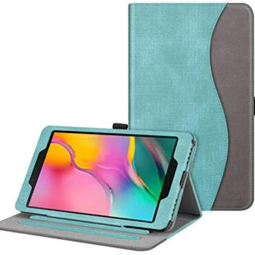 FINTIE Case for Samsung Galaxy Tab A8 8-Hump Tablet 2019 (SM-T290 / SM-T295), [Corner Protection] Multi-Attitude Viewing Stand Screen with Pocket, Mint Inexperienced