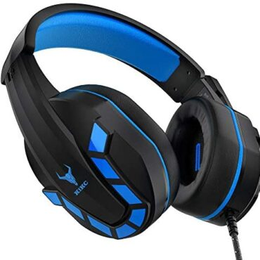 Kikc PS-4 Gaming Headset & PS4 Headset & Xbox one Headset,3.5mm Gaming Headphone with Microphone & Volume Preserve an eye on for Nintendo Switch,PC,Laptop computer,PS3,Video Game(Unlit+Blue)