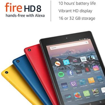 Fire HD 8 Tablet with Alexa, 8″ HD Display, 32 GB, Yellow – with Ads (Old Technology – eighth)