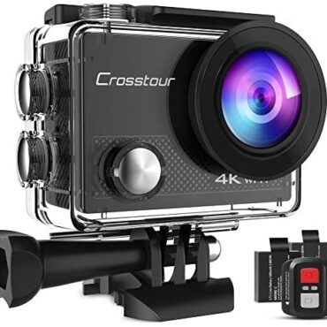 Crosstour Action Digicam 4K 20MP Wifi Underwater 30M with Some distance away Possess watch over IP68 Waterproof Case