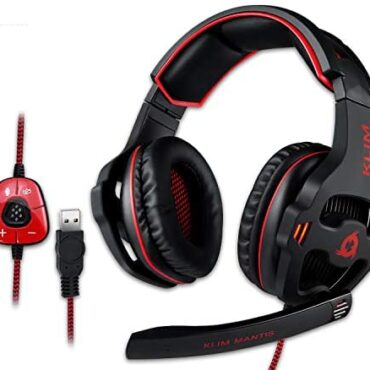 KLIM Mantis – Gaming Headset with Mic for PC, PS4, Nintendo Swap, Mac, Cellular – PS5 Headset – USB 7.1 – Over Ear Excessive Quality Headphones [ New 2020 Version ]