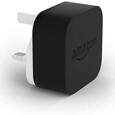 Amazon 9W PowerFast Customary OEM USB Charger and Energy Adaptor for Kindle E-readers, Fire Capsules and Echo Dot