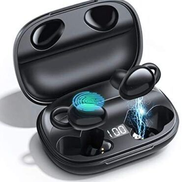 Wireless Earbuds Constructed Mic, Touch Management Earphones Bluetooth 5.0, Sport Correct Wireless Headphones, Water resistant, 3D Stereo&Deep Bass Sound, Charging Case 1800mAh[Playtime 35Hrs] for iphone and Android