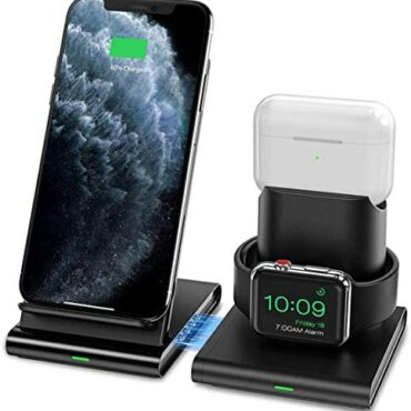 Seneo 3 in 1 Wireless Charger, Apple Scrutinize and AirPods 2 Charging Neutral,Magnetic Compose,Nightstand Mode for iWatch Series 5/4/3/2, 7.5W Snappily Charging for iPhone 11/11 Educated Max/XR/XS Max/Xs/X/8/8P