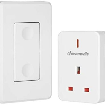 DEWENWILS A ways off Administration Whisk Socket, 13A/3120W Heavy Responsibility Wi-fi Light Change, 30m/100ft Long Range, Programmable, CE and RoHS Listed, 1 Pack Sockets and 1 A ways off