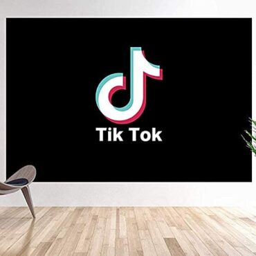 TIK TOK Backdrop,Skinny Vinyl Cheerful Birthday Occasion Ornament Represent Background,Song Represent Stuido Gross sales place 3X5FT