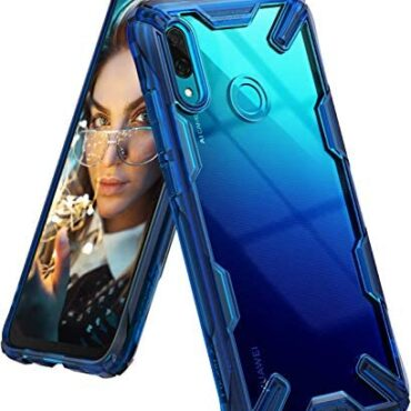 Ringke Fusion-X Effectively matched with Huawei P Attention-grabbing 2019 Case, In-constructed Dot Matrix Rear PC Anti-Grasp Renovated Bumper [Military Drop Tested Defense] Double Protection Quilt for P Attention-grabbing 2019 – Dwelling Blue