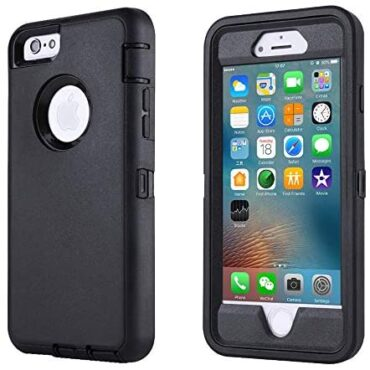 smartelf Case for iPhone 6 Plus/6s Plus Heavy Accountability With Built-in Show cloak Protector Shockproof Filth Tumble Proof Protective Conceal Moving Shell for Apple iPhone 6+/6s+ 5.5 disappear-Shadowy