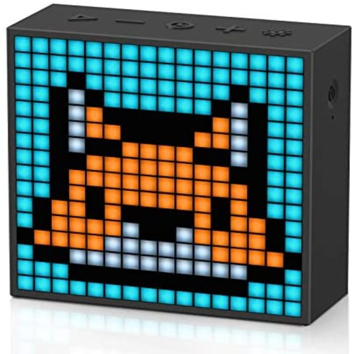 Divoom Timebox evo Pixel Artwork LED Bluetooth Speaker App Control, Trim Transportable Wi-fi Speaker with Great Bass, Supports Anxiety Clock Radio, Microphone (Shadowy)