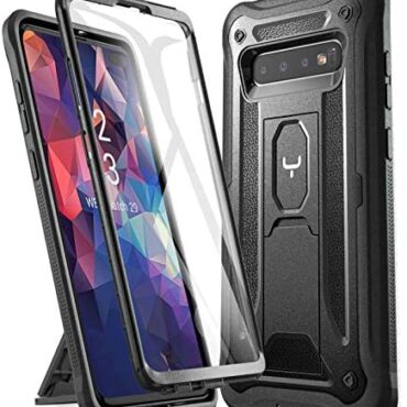 YOUMAKER Designed for Samsung Galaxy S10 Plus 6.4 hunch (2019) Case with Constructed-in Conceal Protector Kickstand Fat Body Heavy Responsibility Shockproof Rugged Bumper Dual Layer Protector Rugged Cellular phone Quilt-Murky