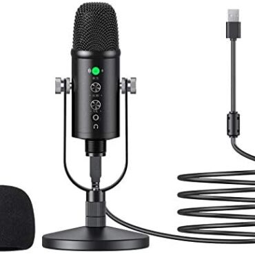 USB Microphone, EKLEVOR Cardioid USB condenser microphone PC Gaming Computer Microphone with Round Stand for Streaming, Podcasting, Vocal Recording, Treasure minded with Pc pc Desktop Dwelling windows Computer