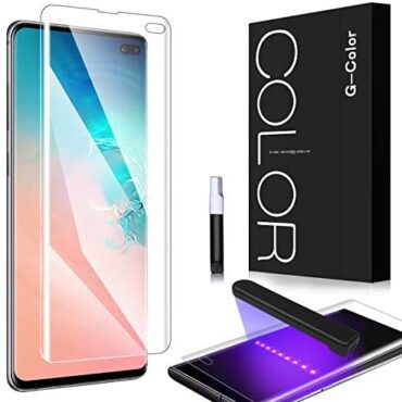 G-Coloration Screen Protector for Galaxy S10 Plus, S10 Plus [Full Adhesive] [Case Friendly] [3D Glass] Tempered Glass Screen Protector for Samsung Galaxy S10 Plus(Updated Model)