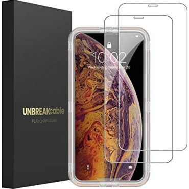 UNBREAKcable Display camouflage Protector for iPhone XS Max and iPhone 11 Suited Max [2 Pack], 2.5D Tempered Glass for iPhone XS Max/11 Suited Max [Anti-scratch, Anti-fingerprint, Bubble Free & Case-friendly]