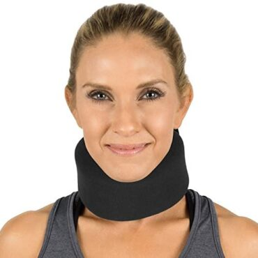 Vive Neck Brace – Adjustable Soft Toughen Cervical Collar Can Be Used At some stage in Sleep – Wraps Aligns and Stabilizes Vertebrae – Relieves Distress and Stress in Backbone (Shaded, 3″ Width)
