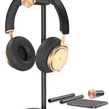 Headphone Stand Holder Adjustable,OMOTON Aluminum Headset Desktop Stand Holder with Non-High-tail Silicone Depraved Applies to Sennheiser, Sony, Bose, Beats, AKG and Extra, Murky