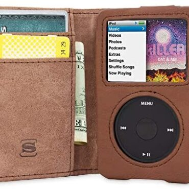 Snugg iPod Classic Case, Brown Leather-primarily based Leather-primarily based Flip Case [Card Slots] Govt Apple iPod Classic Pockets Case Cowl and Stand Legacy Sequence