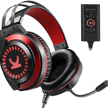 VANKYO Gaming Headset CM7000 Official PS4 Headset with 7.1 Encompass Sound Stereo Xbox One Headset, Gaming Headphones with Noise Canceling Mic & Memory Foam Ear Pads for PC, PS5, Xbox One, Nintendo Switch