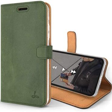 Snakehive Classic Wallet for Apple iPhone XS/iPhone X || Right Leather-basically based entirely Wallet Mobile phone Case || Gracious Leather-basically based entirely with Viewing Stand & 3 Card Holder || Flip Folio Cowl with Card Slot (Dark Green)