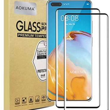 AOKUMA Glass for Huawei P40 Pro 5G Tempered Glass Display disguise Protector, Premium 3D Crooked Edge Guard Movie, Edge to Edge Plump Display disguise Duvet, work with most case (Dusky Edge)