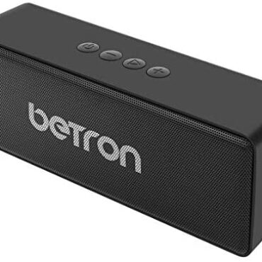 Betron D51 Bluetooth Wireless Audio system, Stereo Sound, Twin Excessive Efficiency Speaker Drivers, Light-weight, Transportable