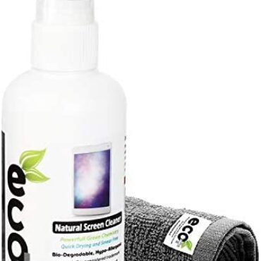 Ecomoist Pure Display cowl cowl Cleaner 100ml with Exquisite Microfiber Towel For LCD TFT Plasma Computer Notebook computer Cellular Touch Display cowl cowl Tablet Eco Qualified Green Product Kills ninety nine.ninety nine% Germs Made in UK