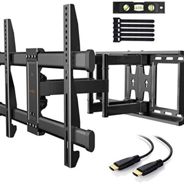 TV Wall Bracket for 37-75 Poke Flat& Curved TVs up to 60kg Max.VESA 600x400mm Twin Arm TV Wall Mount